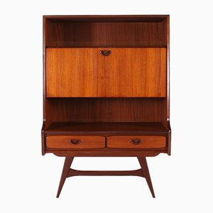 Mid-Century Teak Secretaire by Louis van Teeffelen for WéBé