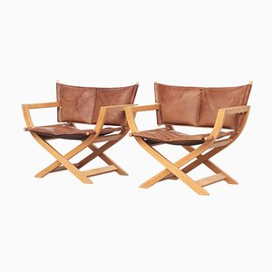 Danish Leather Lounge Chairs from Westnofa, 1960s, Set of 2