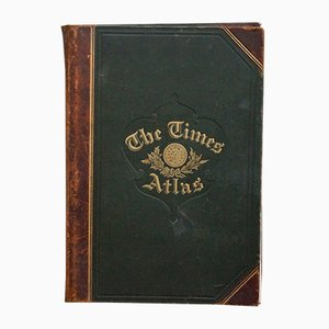 Antique Leather Bound The Times Atlas from Printing House Square London E.C