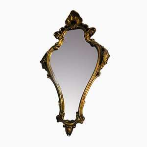 Antiker Rokoko Spiegel mit Vergoldetem Holzrahmen