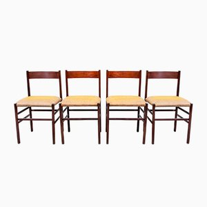 Italian Rosewood Dining Chairs, 1950s, Set of 4