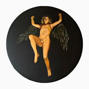 Young Winged Erot Ölgemälde von Josta Stapper, 1973