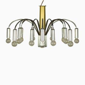 Zweifarbige Vintage 16-Leuchten Deckenlampe von Doria Leuchten