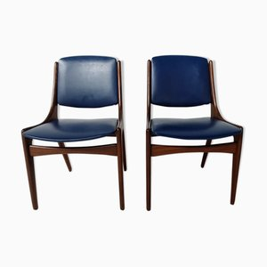 Mid-Century Scandinavian Side Chairs, Set of 2