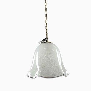 Glockenförmige Vintage Glas Hängelampe von Doria Leuchten, 1960er