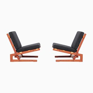Mid-Century Danish Lounge Chairs, 1960s, Set of 2