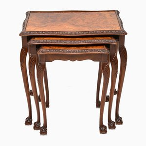 Burr Walnut Nesting Tables, 1920s