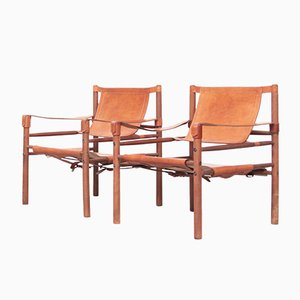 Mid-Century Danish Safari Lounge Chairs, 1960s, Set of 2