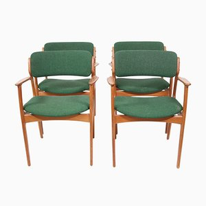 Modell 49 Esszimmerstühle von Erik Buch für Oddense Maskinsnedkeri / OD Møbler, 1960er, 4er Set