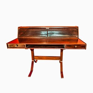 Rosewood Model 530 Desk by Gianfranco Frattini for Bernini, 1950s