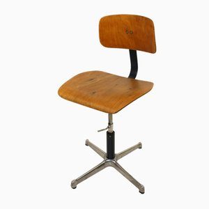 German Adjustable Architects Swivel Chair from Drabert, 1940s