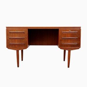 Mid-Century Danish Freestanding Teak Desk, 1960s