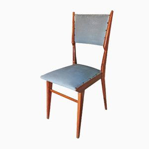 Leather and Wood Dining Chairs Attributed to Carlo de Carli, Italy, 1960s, Set of 6