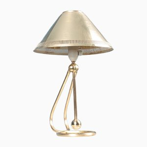 Mid-Century Danish Brass Table Lamp, 1950s