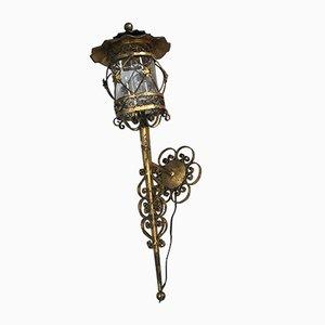 Antike Spanische Wandlampe, 1920er