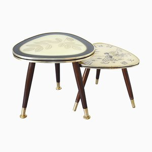 Mid-Century German Kidney Side Table, 1950s, Set of 2
