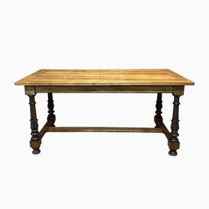 Vintage Oak and Cherrywood Farm Table