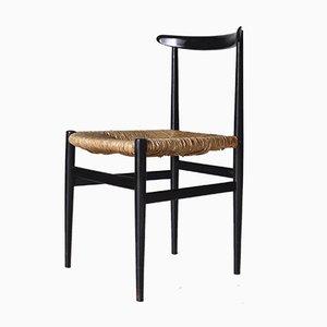 Italienischer Stuhl aus Rush Seat von Chiavari, 1950er