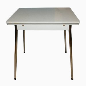 Small Mid-Century Formica and Chrome Dining Table