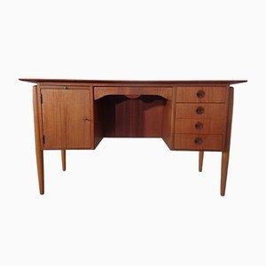 Geschwungener dänischer Schreibtisch aus Teak & Eiche, 1960er
