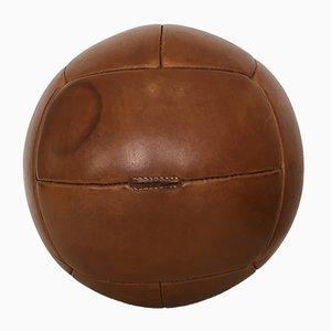 Vintage Leather 5kg Medicine Ball, 1930s