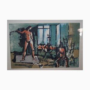 Color Etching by Josef Schibli, 1970s