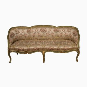 Italian Lacquered, Gilded, and Painted Sofa, 1930s