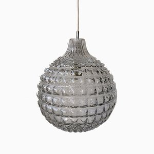Large Vintage German Bubble Glass Ceiling Lamp, 1960s