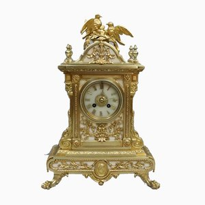 Napoleon III French Gilt Bronze Mantel Clock from Japy Freres, 1860s