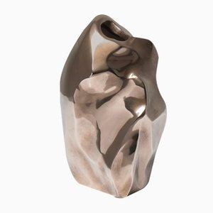 Französische Skulpturale Bronze Vase von Michel Jaubert, 1960er