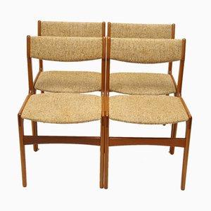 Danish Dining Chairs by Erik Buch for Oddense Maskinsnedkeri / O.D. Møbler, 1960s, Set of 4
