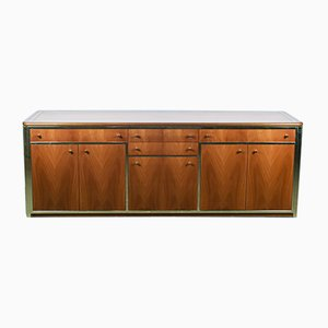 Wood and Metal Chest of Drawers, 1970s