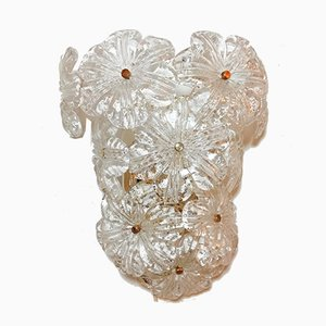 Murano Glass Floral Sconces, 1970s, Set of 2
