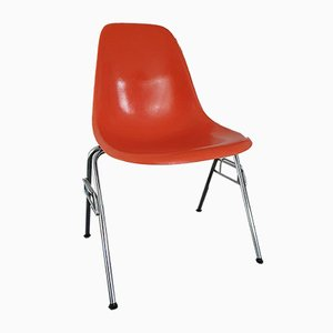 Orange DSS Fiberglass Side Chair by Charles & Ray Eames for Herman Miller, 1970s