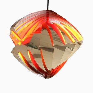 Space Age Danish Konkylie Pendant Lamp by Louis Wiesdorf for Lyfa, 1962
