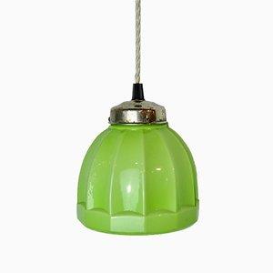 Art Deco Green Ceiling Lamp, 1920s