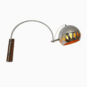 Chrome Wall Arc Lamp from Gepo, 1960s