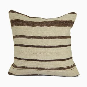 Organic Turkish Striped Hemp Kilim Cushion Cover