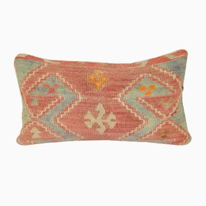 Handmade Soft Color Lumbar Kilim Cushion Cover
