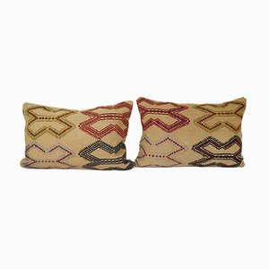 Embroidered Turkish Lumbar Cushion Covers, Set of 2