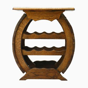 Vintage French Oak Wine Rack Table