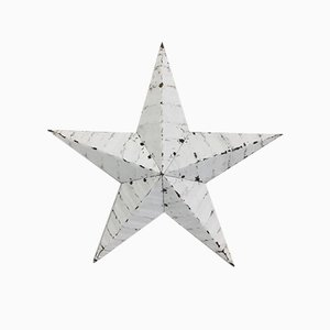Metal White 18 inch Amish Barn Star, 1960s