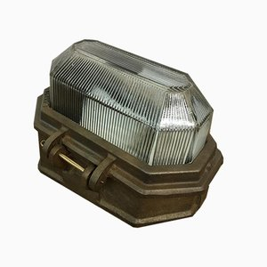 Oxidised Prismalux Bulkhead Light from Wardle, 1950s