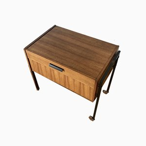 Small Mid-Century Wooden Sewing Box, 1950s