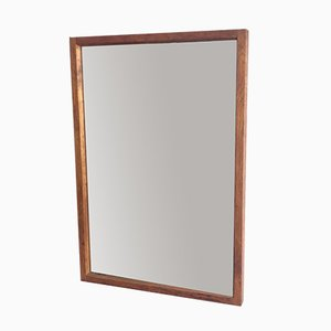 Mid-Century Wall Mirror with a Teak Frame, 1970s