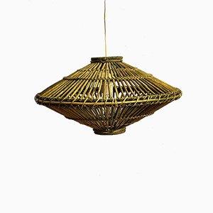 Mid-Century Deckenlampe aus Bambus, 1970er