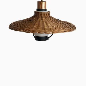 Bamboo Ceiling Lamp, 1970s
