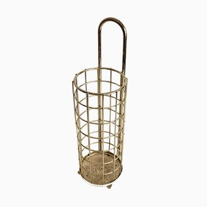 Mid-Century Golden Umbrella Stand, 1950s