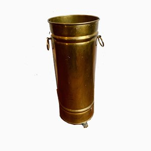 Vintage Umbrella Stand in Brass on Feet, 1950s