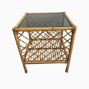 Mid-Century Side Table in Bamboo, 1970s